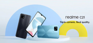 Realme C21 Smartphone 4GB+64GB 13MP Triple Rear Camera Global Android Cell Phone