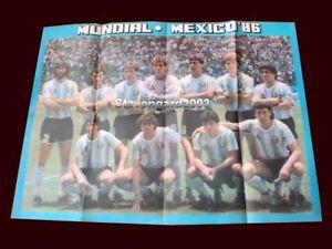 FIFA WORLD CUP Mexico 1986 - ARGENTINA TEAM - MARADONA - Poster