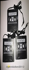 Lot3pc Audio Cassette Tape Adapter to Auxiliary Cable 3.5mm Jack for Mp3 iPod Cd