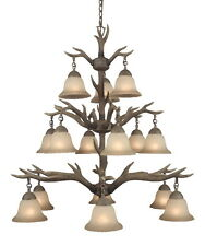 Rustic 15 Light Buckhorn Antler Chandelier