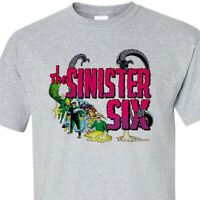 The Sinister Six t-shirt retro marvel comics silver age Kraven Electro Vulture