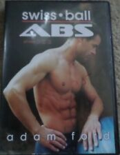Swiss Ball Abs & Core Stability Adam Ford Workout DVD Strength Flexibility Back