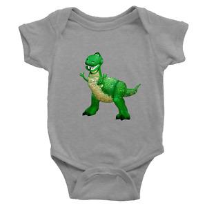 Infant Baby Rib Bodysuit Jumpsuit Babysuits Clothes Gift Cute Cartoon Dinosaur