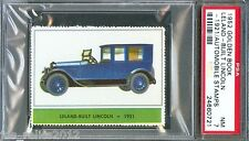 1952 Golden Book Automobile Stamps 1921 LELAND BUILT LINCOLN Car Near Mint PSA 7