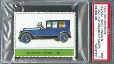 1952 Golden Book Automobile Stamps 1921 LELAND BUILT LINCOLN Car Near Mint PSA 7
