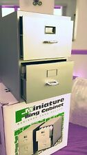 MINI FILING CABINET HOLDER FOR BUSINESS CARDS NEW