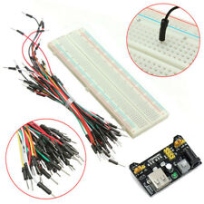MB102 Breadboard 830 Points+Power Supply Module 3.3/5V+65xJumper Cable Wires Kit