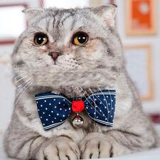 Puppy Dog Cat Kitten Bow Tie Necktie Bowknot Pet Adjustable Collars With Bells