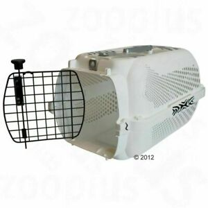 Dog Pet Transport Box White Tiger Pattern Ideal for Cats and Small Dogs