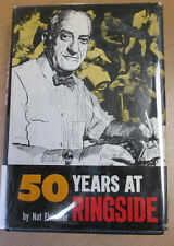 50 Years At Ringside Nat Fleischer SIGNED Rare Boxing Book