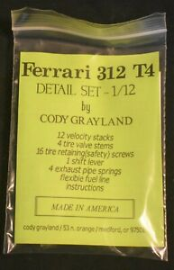 Tamiya Ferrari 312 T4 1/12 Scale Detail Set