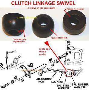 Mopar Clutch Linkage Solid Steel Swivel A833 340 440 Dart Coronet GTX R/T Cuda +