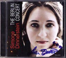 Simone DINNERSTEIN Signiert BERLIN CONCERT Bach Beethoven Lasser CD French Suite