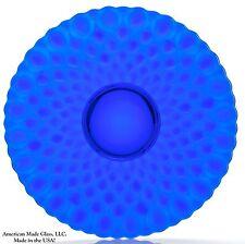 Cobalt Blue Glass Quilted / Elizabeth Pattern Large Fruit Plate Platter - Mosser