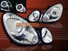 1998-2005 LEXUS GS300/GS400/GS430 PROJECTOR HEADLIGHTS CCFL TWO HALO CHROME