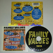 CD family values tour 98 KORN INCUBUS LIMP BIZKIT RAMMSTEIN ORGY (C10) no lp mc