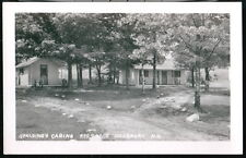HILLSBORO NH Spalding's Cabins Rts 9 & 202 Vintage RPPC Postcard Old Real Photo