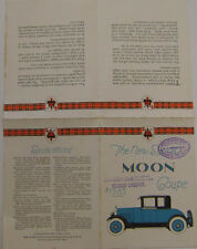 Moon six 40 coupe originale 1920 brochure USA voiture américaine