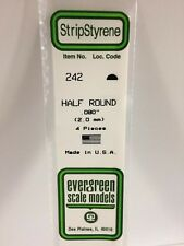 """.080"""" (2.0MM)  OD Polystyrene Rod EVG242 by Evergreen Scale Models"""