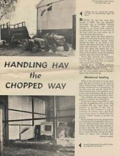 Handling Hay The Chopped Way & Self Fed Hay Article Reprint 1962  1963 1507F