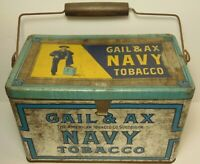 Vintage 1930s Gail & Ax Navy Tobacco Military Graphic Advertising Tin Maryland