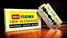 5 FEATHER Hi-Stainless Platinum Double Edge Razor Blades  MADE IN JAPAN