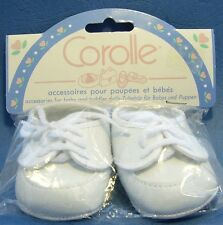 COROLLE white Florence lace-up baby toddler doll shoes 70mm length large