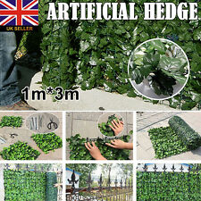 Artificial Ivy Leaf Hedge Roll Screening Privacy Screen Garden Fence 1m x 3m