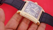 FRANCK MULLER 10000 SC CONQUISTADOR CORTEZ 18K YELLOW GOLD WATCH 16 Ct Diamonds