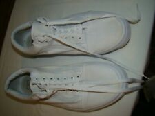 VANS MENS SKATEBOARD SHOES WHITE WITH WHITE STRIPE SIZE 13