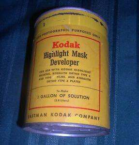 Antique Can of Kodak Highlight Mask Developer, Key Open Can