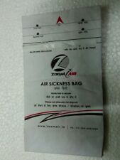 FLIGHT AIRLINE BARF AIR MOTION SICKNESS BAG INDIA ZOOM AIR UNUSED