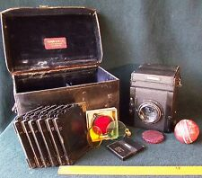 Marion Watson Dallmeyer KODAK, 19thC BELLE Antico piastra fotocamera OUTFIT