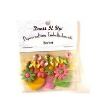 Dress it Up Papercrafting Embellishments - Sorbet