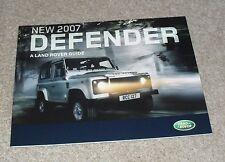 Land Rover Defender Brochure 2007 2.4d 90 110 Pick Up Station Wagon Hard Top