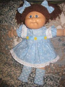 CPK doll clothes/16-18 inch/blue star print dress/hair bows
