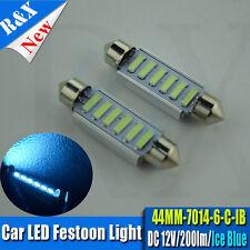 2x C10W 44mm ICE BLUE LED INTERIOR FESTOON BULB VAUXHALL ASTRA MK2 MK3 MK4 MK5