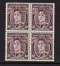 B.C.O.F.1946-47 3d WITH TYPE 2 OVERPRINT IN BLACK IN BLOCK OF FOUR MNH.