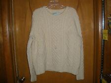 Vintage John Molloy Aran Hand Knit Classic Wool Irish Fishermans Sweater Ireland