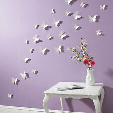 3D Butterfly Wall Stickers 16pcs White Butterfly Decorations Children's Bedroom1