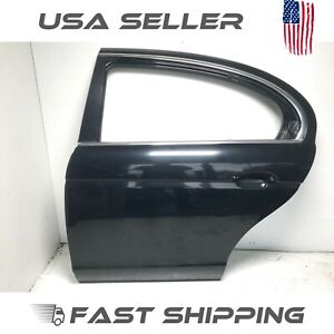 AQ201255 03-08 JAGUAR S-TYPE REAR LEFT LH DRIVER SIDE DOOR SHELL BLACK OEM