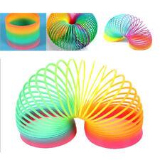 1 Pcs Enfants Jouet Ressort Magique Anneau Arc-en-ciel Spirale Plastique Cadeau