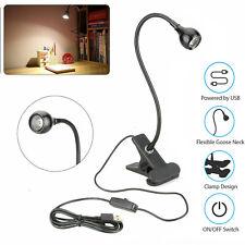 USB Flexible Reading LED Light Clip-on Beside Bed Desk Table Lamp Book Lamp