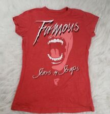 Famous Stars And Straps Womens Girls T Shirt Size Medium Red