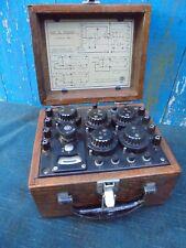 PONT-DE-WHEATSTONE-Ancien appareil de mesure electrique-Sciences-Techniques