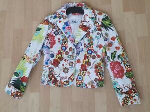 97% Cotton Byblos Blu Women's Jacket 10 UK Colour:  Multi. 3 buttons 2 pockets