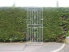 Tall flat top garden side gate  6 ft tall 3 ft  wide opening ! galvanized !