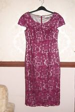 Jacques Vert Lace Dress Deep Pink Party Cocktail Prom  BNWT size UK 8 US 4