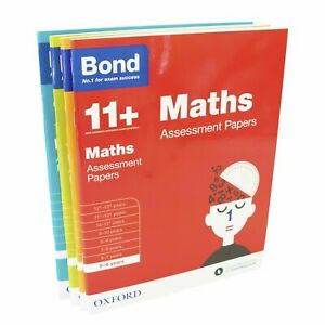 Bond 11+ Maths Assissment Papers 4 Books by Oxford - Ages 5-6 - Paperback