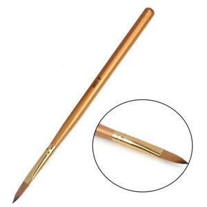 Professional No.8 Acrylic Nail Kolinsky Sable Brush Nail Art Builder Tips Pen *1